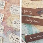 Travel-inspired Wedding Details