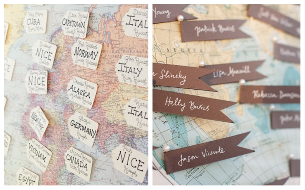 Travel inspired Wedding Details | SouthBound Bride