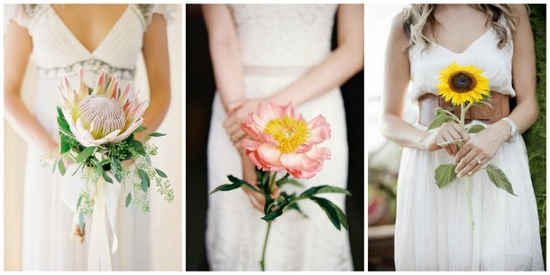 Single Bloom Bouquets | SouthBound Bride