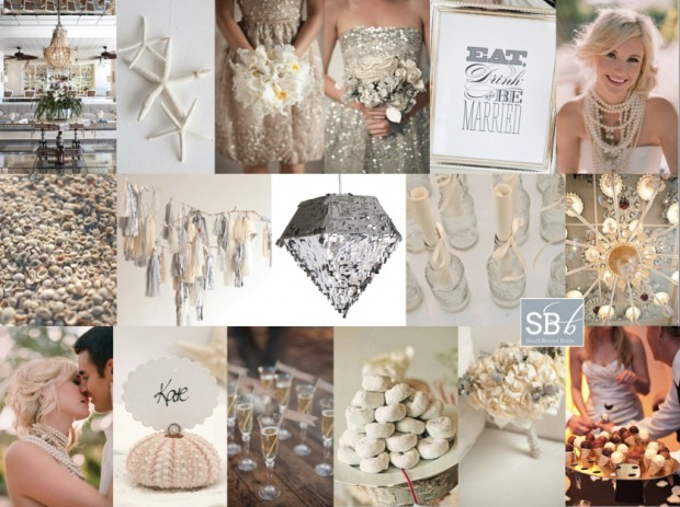 Inspiration Board: Beach Tinsel | SouthBound Bride