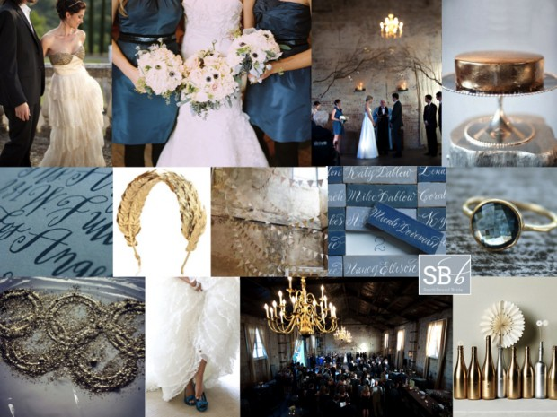Inspiration Board: Olympian Blue | SouthBound Bride
