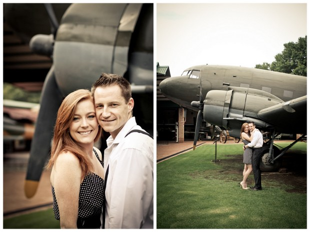 Vintage Aviation Engagement Shoot | SouthBound Bride