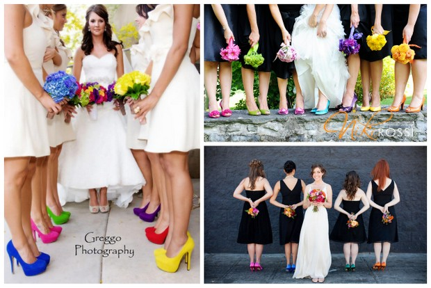 Mismatched Shoes for Your Bridesmaids