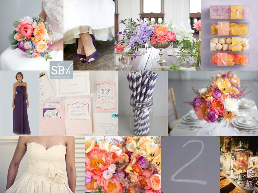 Inspiration Board: Colour Burst | SouthBound Bride