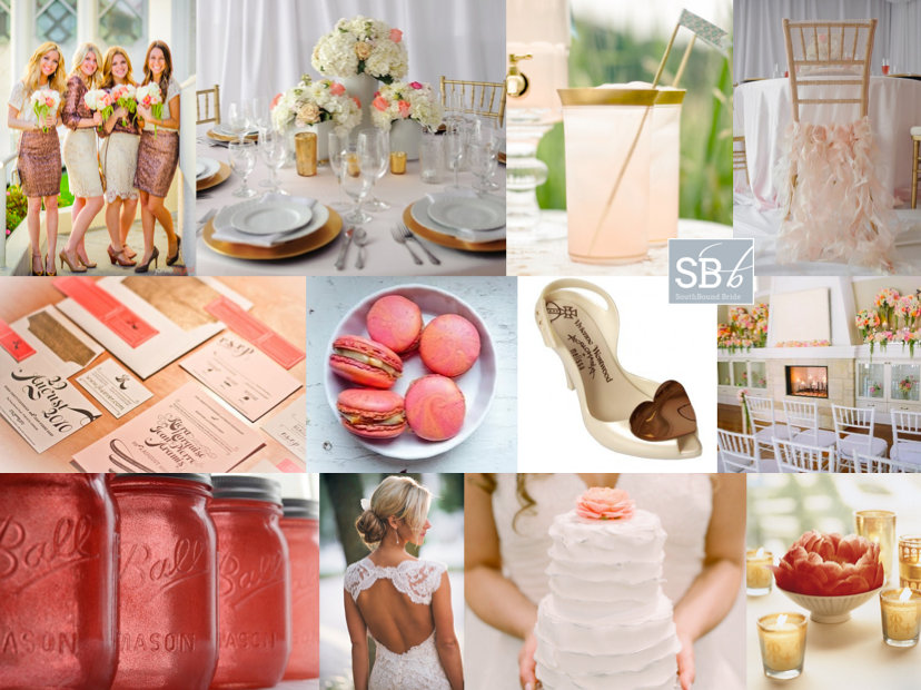 Inspiration Board: Coral & Glam | SouthBound Bride