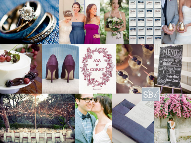 Inspiration Board: Denim & Berry | SouthBound Bride