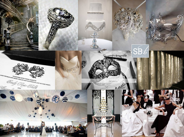 Inspiration Board: Hollywood Masquerade | SouthBound Bride