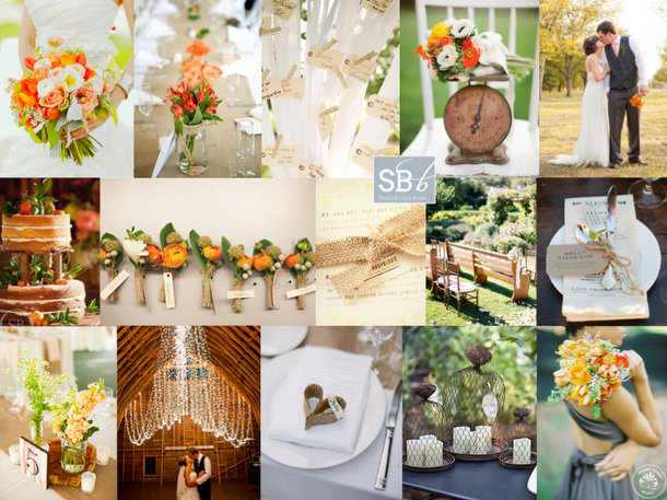 Inspiration Board: Rustic Tangerine | SouthBound Bride