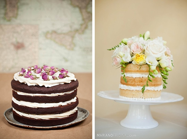 Naked {Un iced} Cakes | SouthBound Bride
