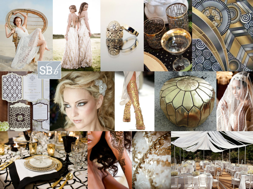 Inspiration Board: Cleopatras Gold | SouthBound Bride