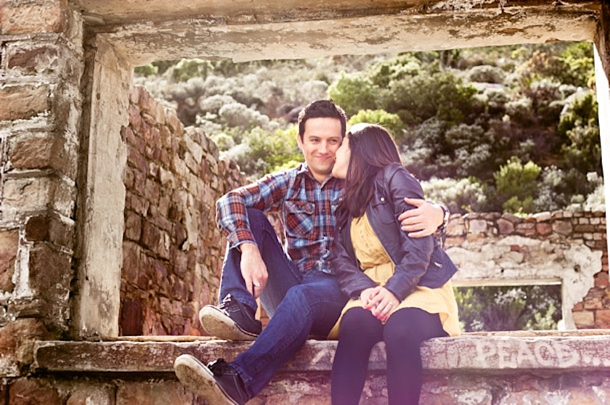 Engagement Shoot at the Hout Bay Ruins   SouthBound Bride