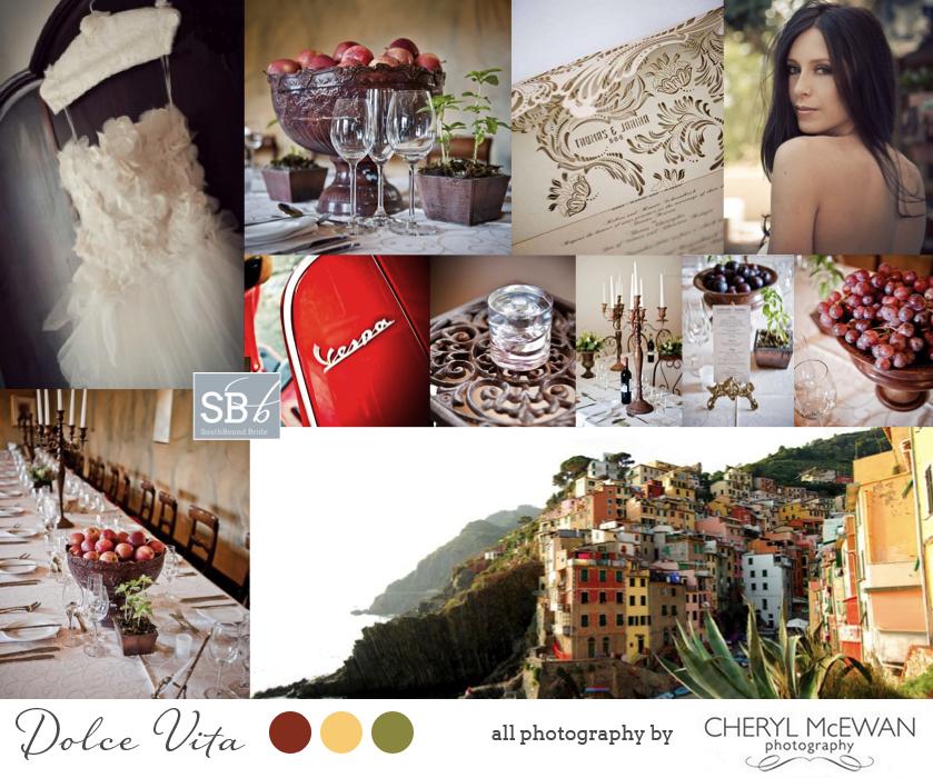 Inspiration Board: Dolce Vita | SouthBound Bride