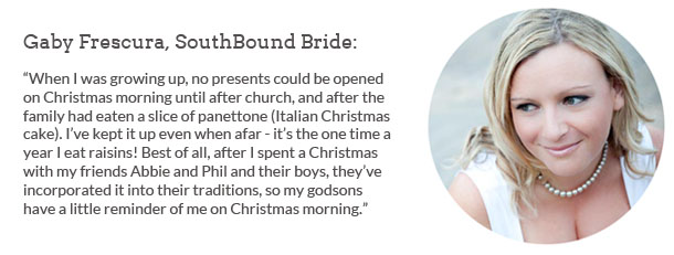 The Question: Favourite Festive Traditions | SouthBound Bride