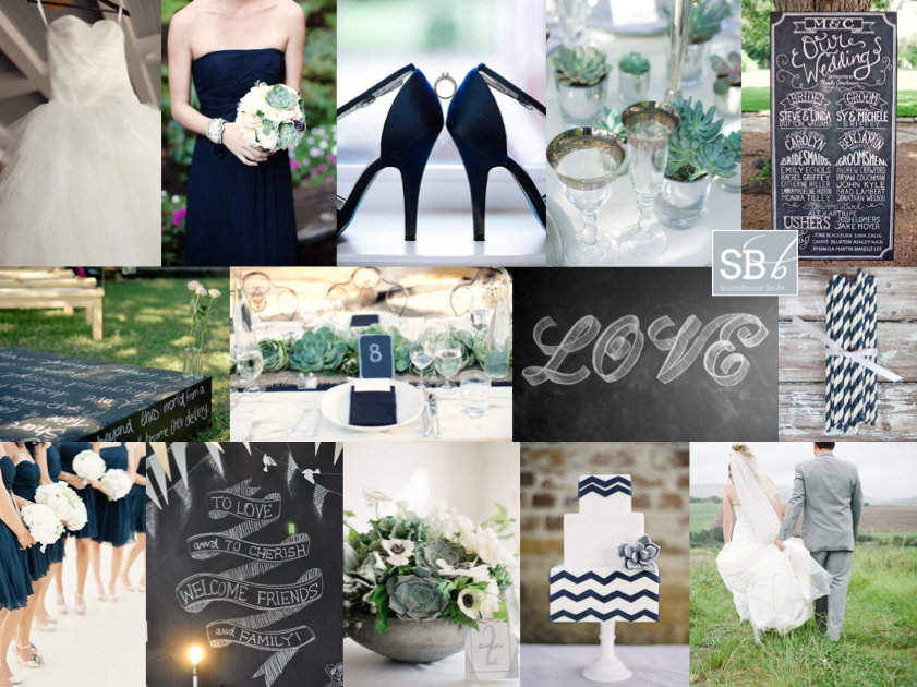 Inspiration Board: Navy & Chalkboard | SouthBound Bride