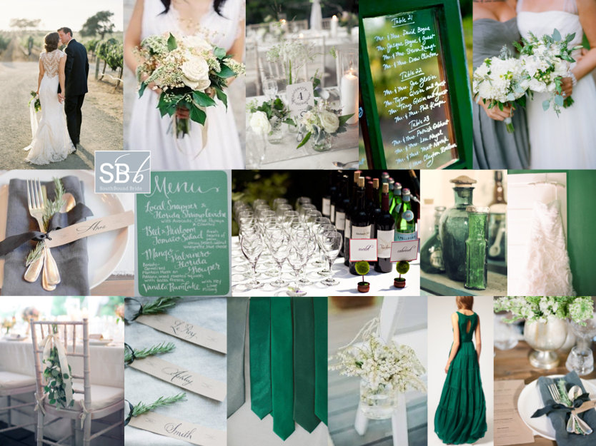 Inspiration Board: Emerald Aisle | SouthBound Bride