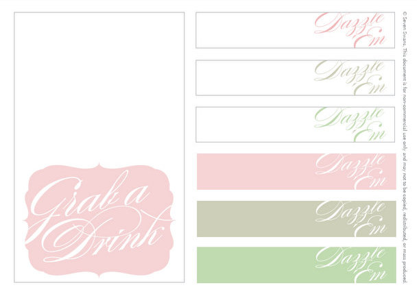 SouthBound Bride on Wedding Chicks {+ bar printables} | SouthBound Bride