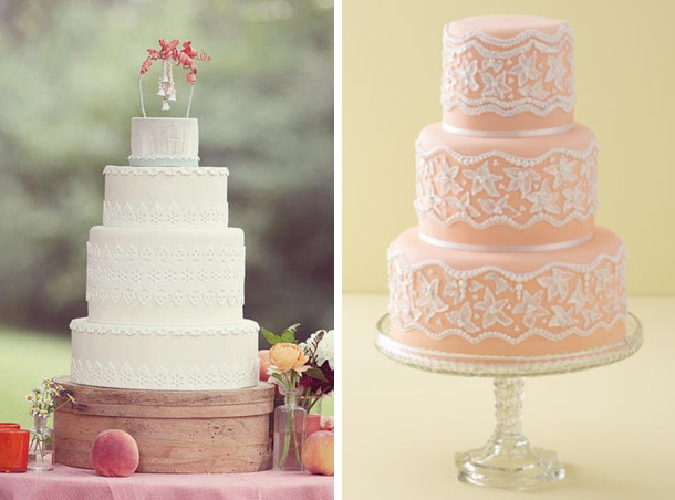 Lace Wedding Cakes | SouthBound Bride