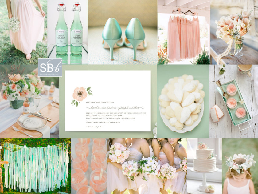Inspiration Board: Mint & Peach | SouthBound Bride