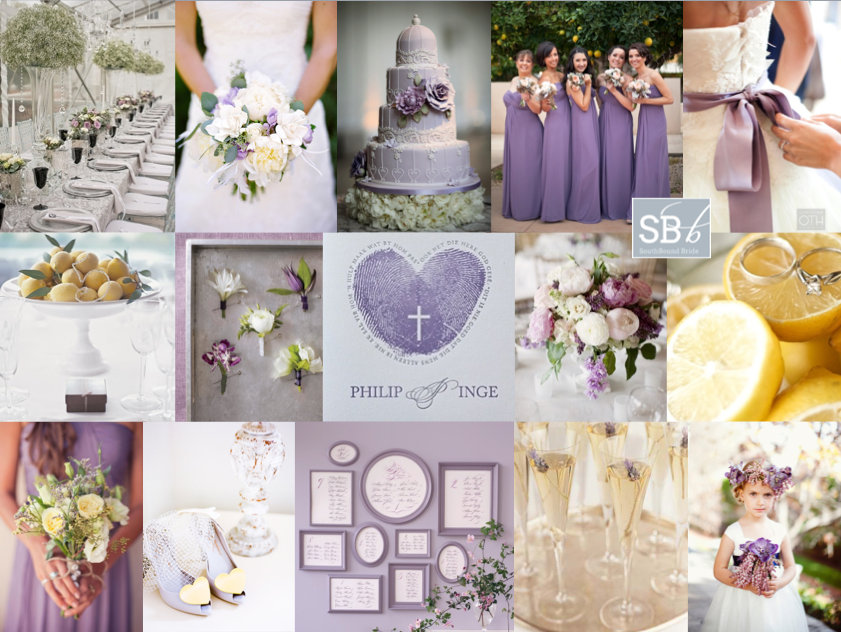 Inspiration Board: V is for Violet | SouthBound Bride