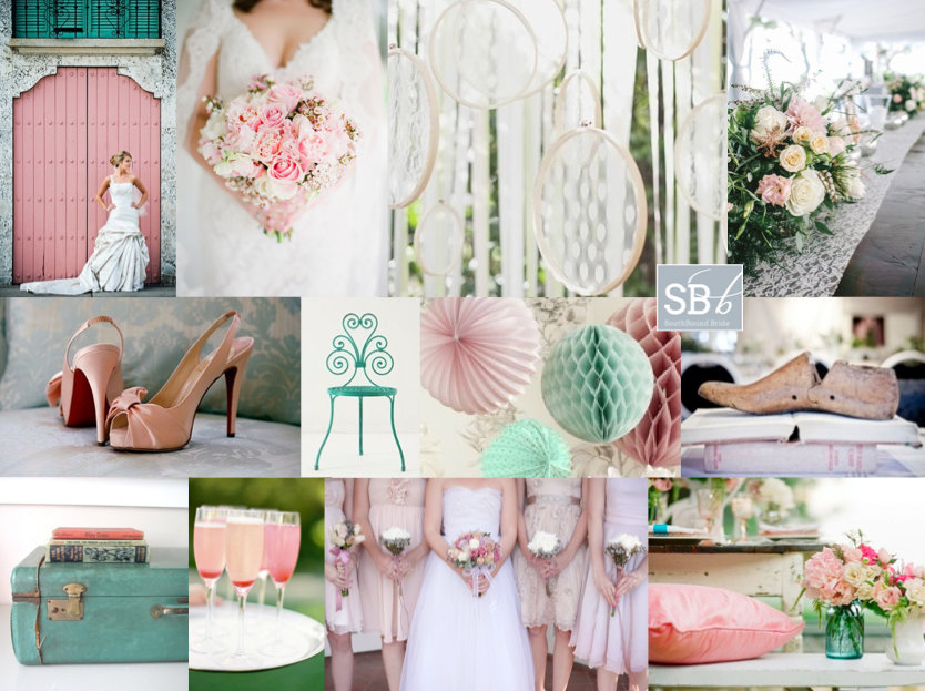 Inspiration Board: Antique Teal & Rose | SouthBound Bride