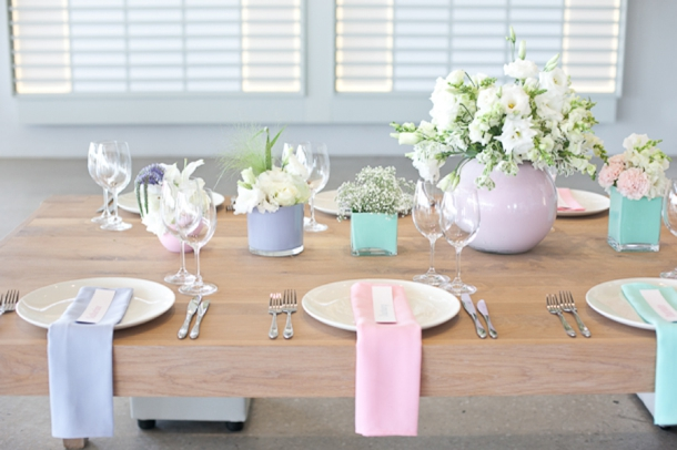 Modern Pastels Styled Shoot   SouthBound Bride