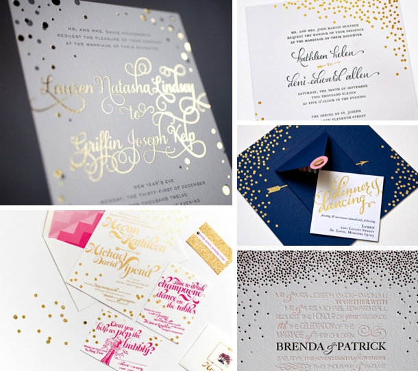 Foil Stamped Wedding Invitations: Southboundbride-foil-stamped-wedding-invitations-002