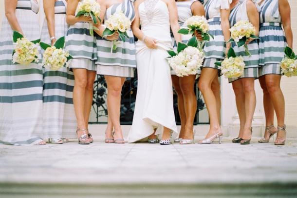 Striped Bridesmaid Dresses   SouthBound Bride