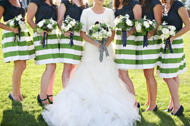 Striped bridesmaid dresses for Striped bridesmaid dresses wedding