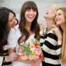 striped bridesmaids F