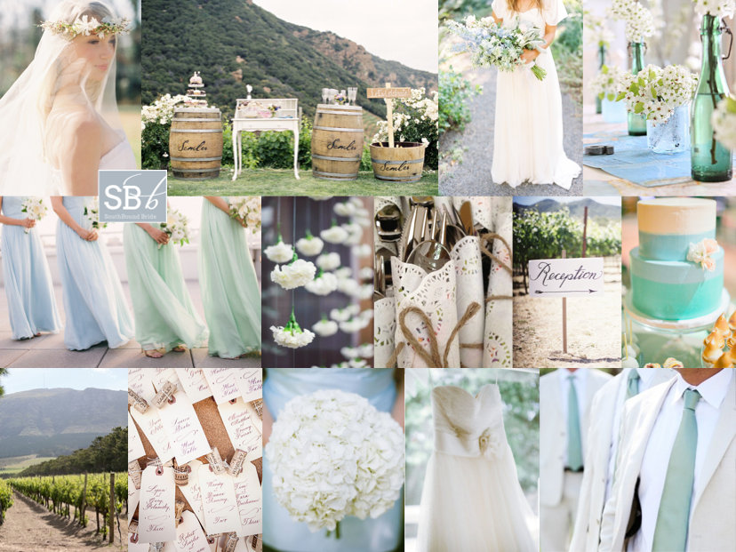 Inspiration Board: Seafoam Vineyard | SouthBound Bride