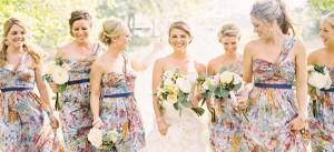 floral print bridesmaids F