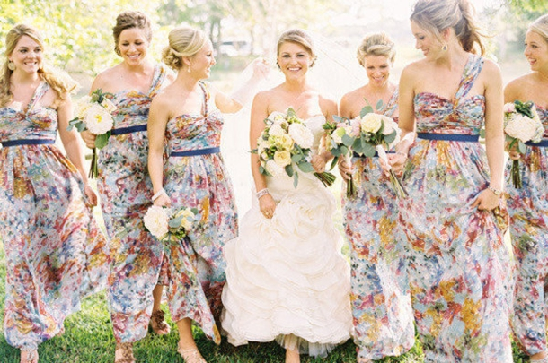 Floral Print Bridesmaid Dresses | SouthBound Bride