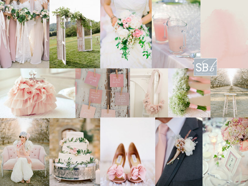 Inspiration Board: Blush & Bashful | SouthBound Bride