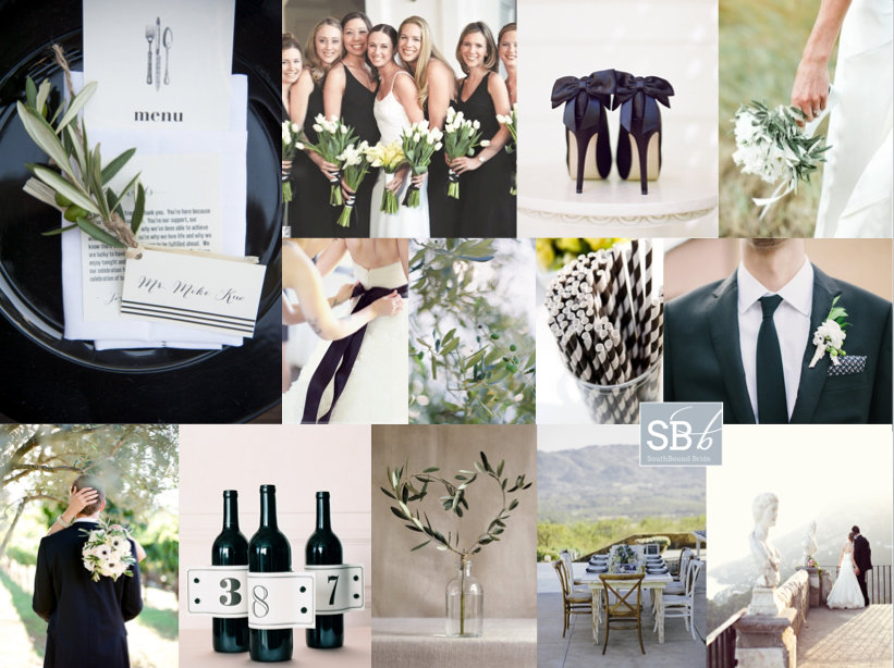 Inspiration Board: Olive & Stripe | SouthBound Bride