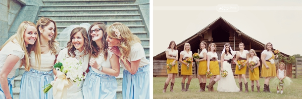 Bridesmaids in Skirts | SouthBound Bride