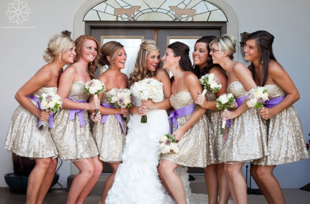 Glitter Bridesmaid Dresses | SouthBound Bride