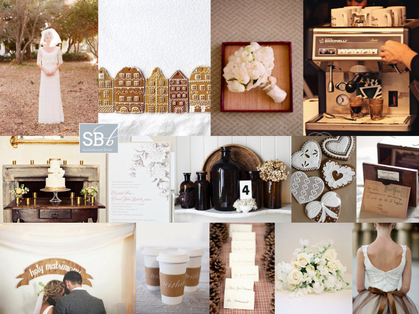 Inspiration Board: Gingerbread Biscuit | SouthBound Bride