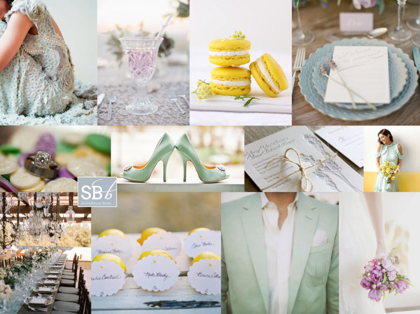 Inspiration Board: Grayed Jade, Lemon Zest & African Violet | SouthBound Bride