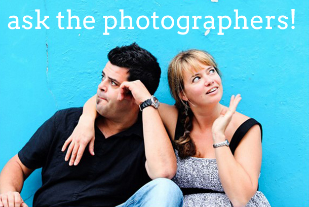 Ask the Photographers! | SouthBound Bride