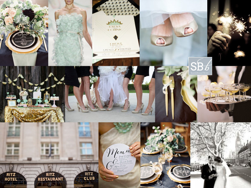 Inspiration Board: Puttin on the Ritz | SouthBound Bride