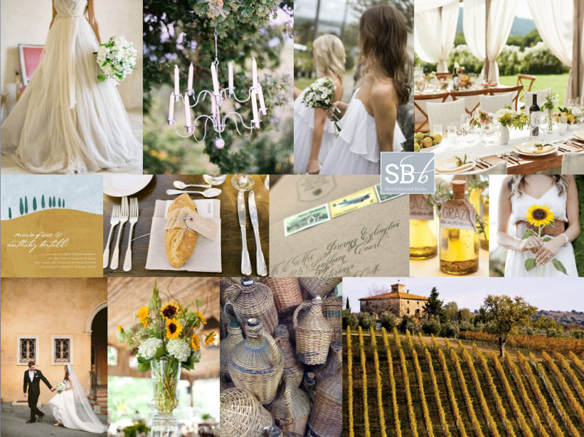 Inspiration Board: Under the Tuscan Sun | SouthBound Bride