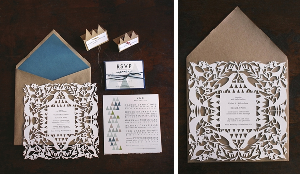 Lasercut Wedding Invitations | SouthBound Bride