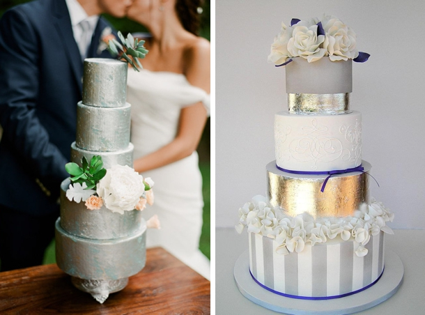 Sparkle & Metallic Wedding Cakes | SouthBound Bride