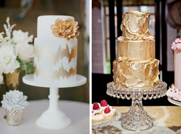 Sparkle & Metallic Wedding Cakes | SouthBound Bride