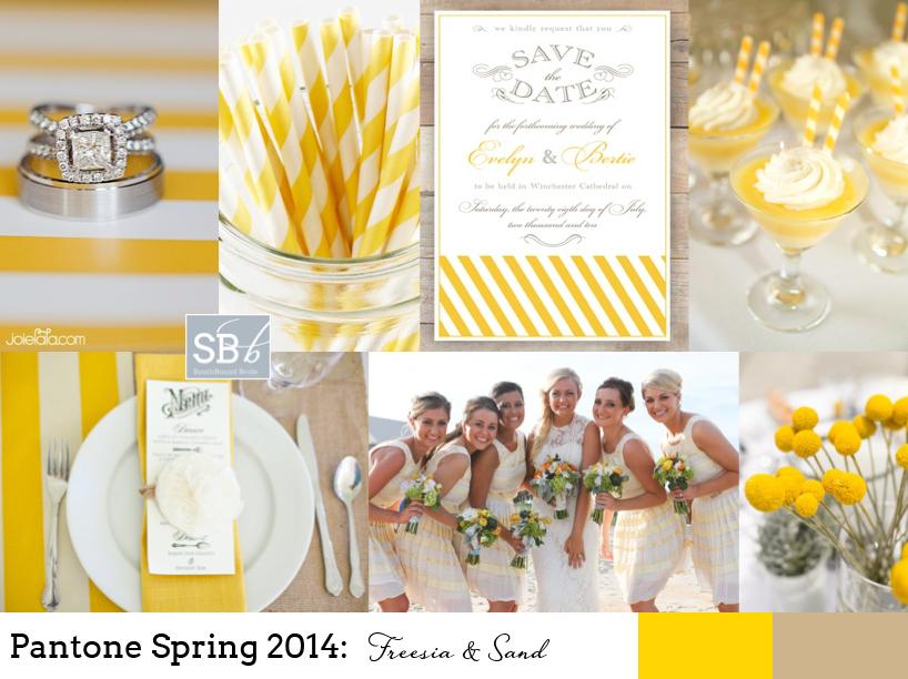Pantone Spring 2014: Freesia & Sand | SouthBound Bride