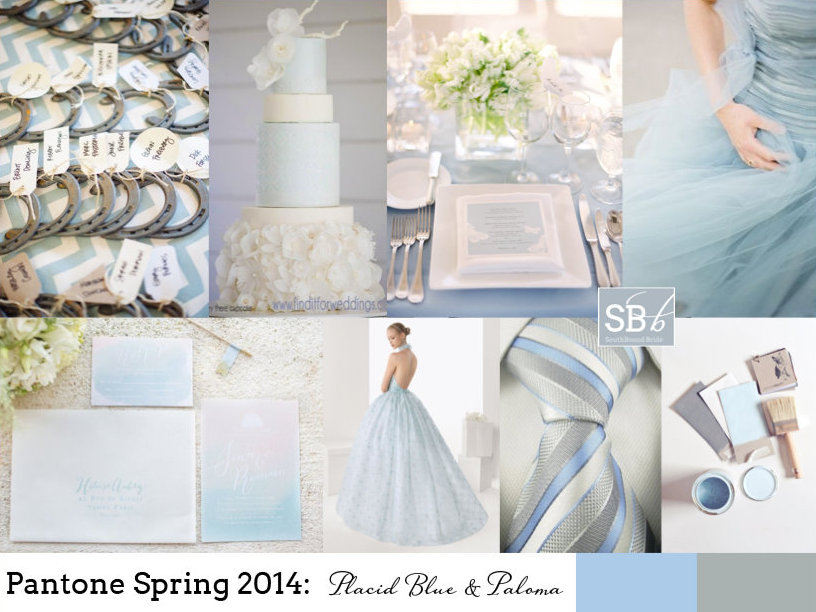 Pantone Spring 2014: Placid Blue & Paloma | SouthBound Bride