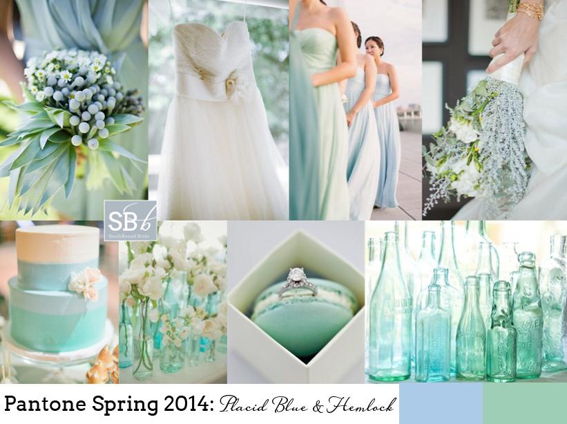 Pantone Spring 2014: Placid Blue & Hemlock | SouthBound Bride