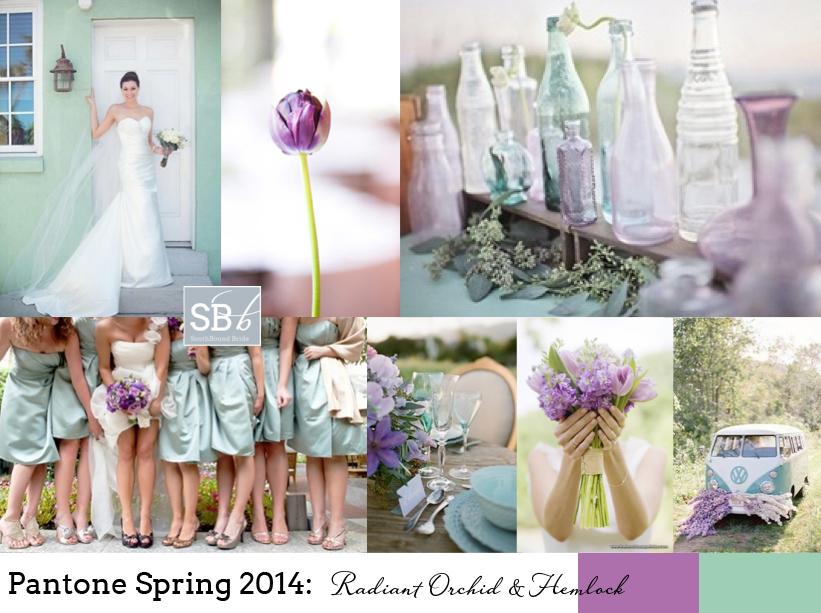 Pantone Spring 2014: Radiant Orchid & Hemlock | SouthBound Bride