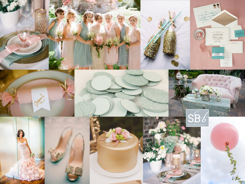 Inspiration Board: Teal with a Kiss | SouthBound Bride