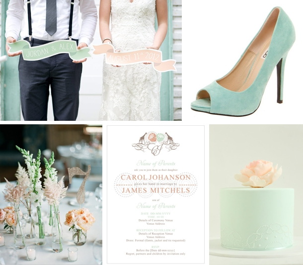 Colour Story: Mint & Peach | SouthBound Bride